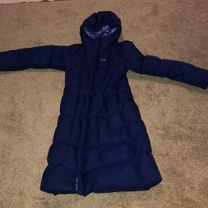 Dark purple kids Patagonia long winter coat